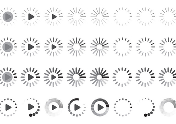 Set Of Loading Icon Vectors - vector gratuit #305213