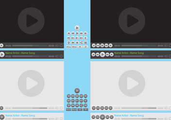 Media Player Vectors - vector gratuit #305243