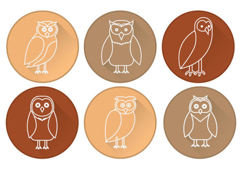 Barn Owl Icon Vector - бесплатный vector #305443
