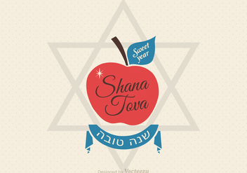 Free Shana Tova Greeting Card Vector - бесплатный vector #305483