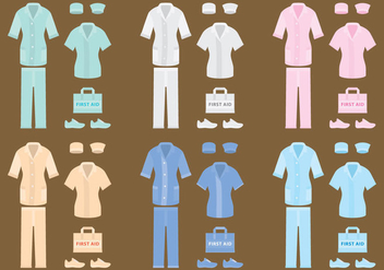 Vector Nurse Clothes - vector gratuit #305533