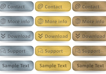Aluminum Rectangular Buttons - Free vector #305553