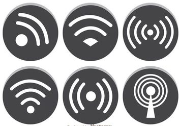 Gray Wifi Symbol - Free vector #305573