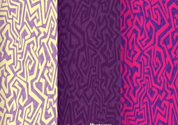 Ethnic Purple Background Vector - vector gratuit #305613
