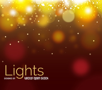 Golden Bokeh abstract background - vector gratuit #305663