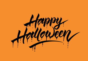 Happy Halloween Vector Calligraphy - vector #305813 gratis