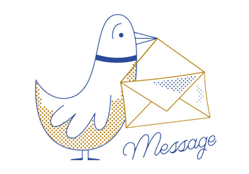 Free Message Pigeon Vector - Free vector #305853