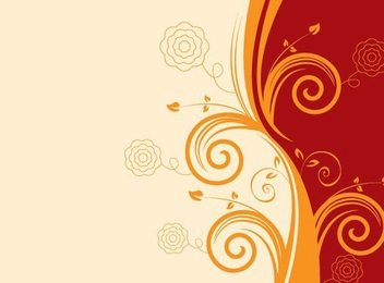 Red Wave Orange Swirls Background - Free vector #305913