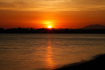 Sunset at Kabini River - image gratuit #306433