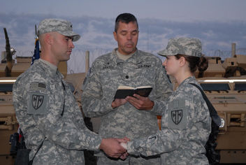 Soldiers share name tags - Free image #308243