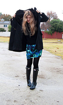 coat and boots in the rain - image #314553 gratis