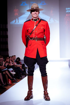 Officer James KING, RCMP - Heart and Stroke Foundation - The Heart Truth celebrity fashion show - Red Dress - Red Gown - Thursday February 8, 2012 - Creative Commons - Free image #314773