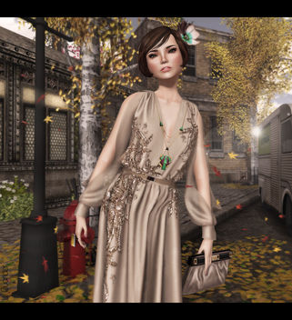 C88 August - ISON - dazzle gown, [monso] My Hair - Daisy, -Glam Affair - Katya - Europa 05 F & LaGyo_Helen long necklace Gold - image #315783 gratis