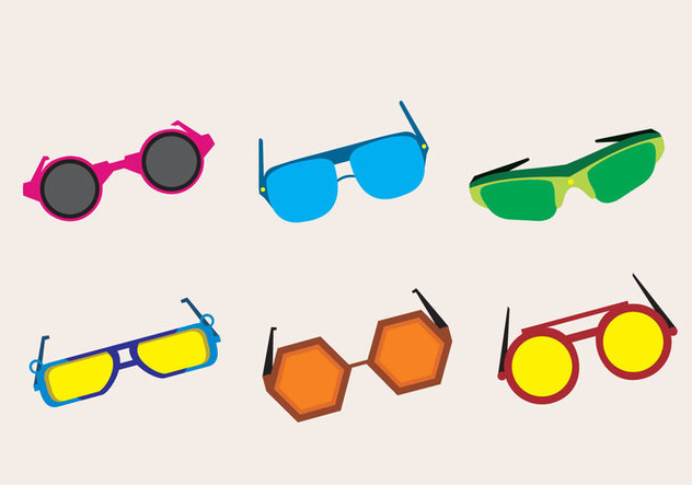 Fashionable 80s Sunglasses - Free vector #317513