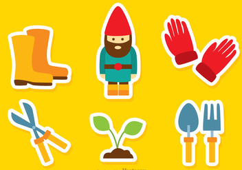 Gardening Color Icons - vector #317643 gratis