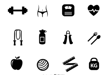 Diet Black Icons - vector #317663 gratis