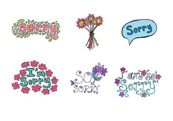 Free Sorry Vector Series - бесплатный vector #317673