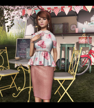 LDF - The Secret Store - Peplum Shirt - Delicacy (Close) - Free image #318083