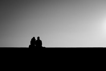Couple at Sunset - image gratuit #320853