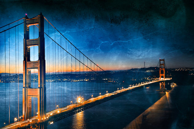 Golden Dawn Bridge - Gloomy Ghost Grunge - image gratuit #323993
