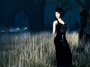 I like to walk in the cemeteries after the rain and feel the sweet smell of death - image #326013 gratis