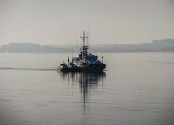 Border patrol boat on the Amur - image gratuit #326513