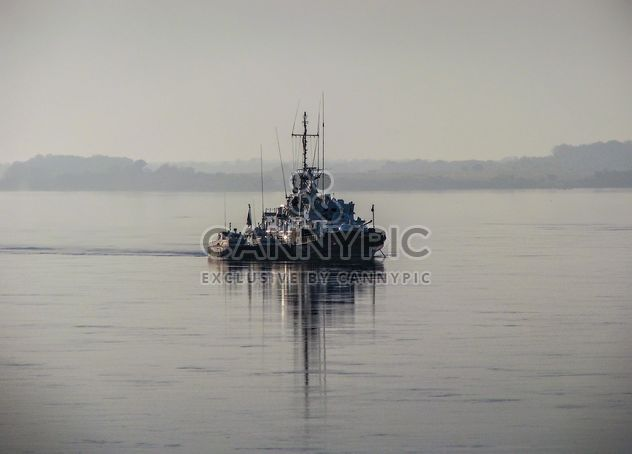 Border patrol boat on the Amur - Free image #326513