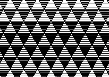 Stripe Triangles Black And White Pattern - vector gratuit #326683