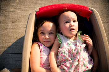 Late summer wagon ride - image #326883 gratis