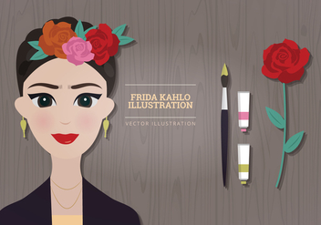 Frida Kahlo Vector Illustration - Kostenloses vector #327033