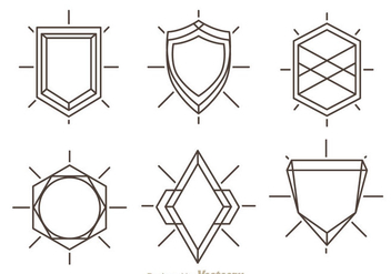 Outline Shield Shape - Free vector #327113