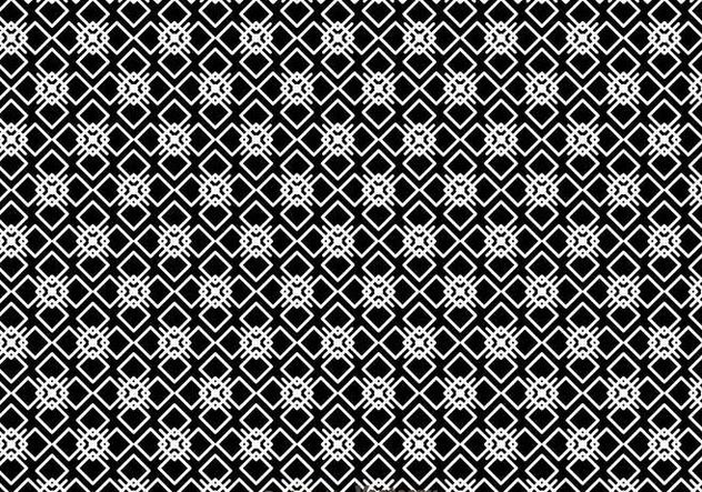 Geometric Black And White Pattern - Free vector #327153