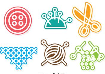 Sewing Colorful Vectors - Free vector #327163