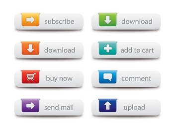Colorful Web Button Set - vector gratuit #327223