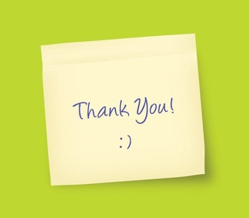 Hand Written Thank You Note - vector gratuit #327253