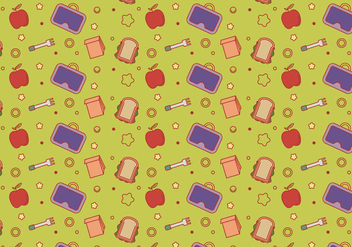 Free School Lunch Vector Pattern #5 - Free vector #327453