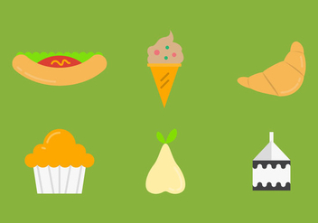 Free School Lunch Vector Icons #4 - Free vector #327463