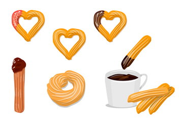 Churros Vectors - Free vector #327473