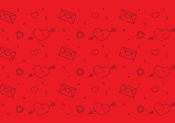Free Heart Vector Pattern #1 - Free vector #327503