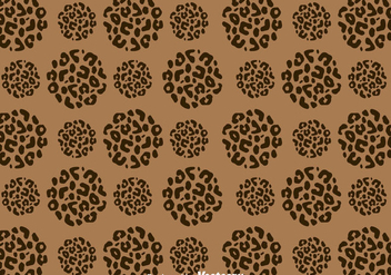 Leopard Pattern On Circle Shape - vector gratuit #327523