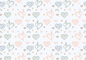 Free Heart Vector Pattern #4 - Free vector #327583