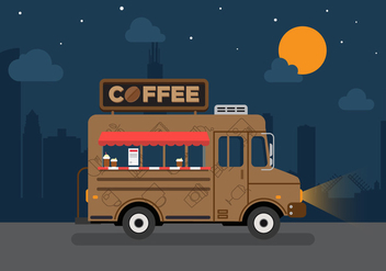 Vector Coffee Truck - Free vector #327633