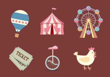 Vector County Fair Icon Set - vector gratuit #327653