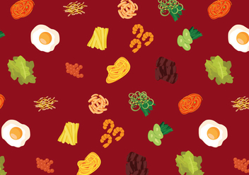 Vector Korean Food Pattern - бесплатный vector #327663
