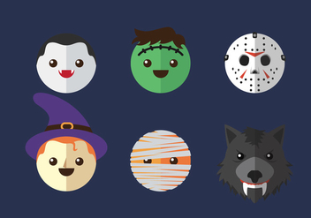 Vector Icon Head Halloween - бесплатный vector #327683