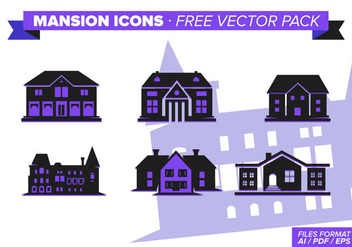 Mansion Icon s Free Vector Pack - vector gratuit #327913