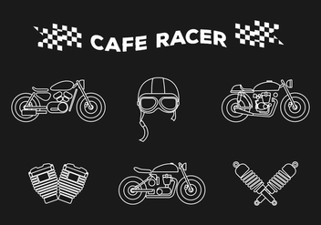 Vector Cafe Racer - Free vector #327953