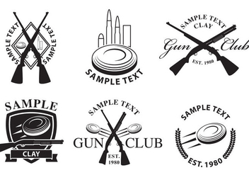 Gun Club Logos - Free vector #327993