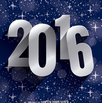 2016 New Year stars - vector gratuit #328013
