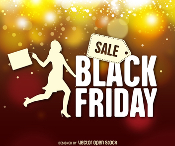 Black Friday background - vector gratuit #328023